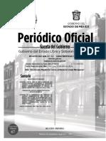 Gaceta del gobierno 15 de abril Tribunal de Justicia Administrativa del Edomex