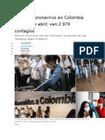 En vivo coronavirus en Colombia este 15 de abril