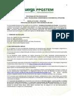 Edital seleção PPGSTEM 2020