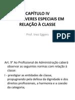 Aula 7 - C+ôDIGO DE +ëTICA - DOS DEVERES ESPECIAIS EM RELA+ç+âO A  CLASSE