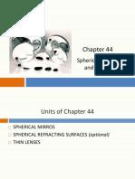 Chapter 44 2018 Kreane 1992 Sphericl mirror and lenses