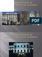 MOSCOW INSTITUTE OF ARCHITECTURE (STATE ACADEMY)