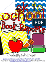 book reports templates