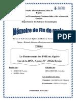 Le Financement des PME en Algérie