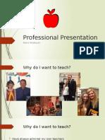 professional presentation copy