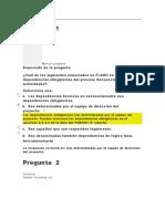 EVALUACION CLASE 6 DIRECCION DE PROYECTOS I