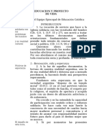 Educación y proyecto de vida - 1985- Conferencia EPISCOPAL Argentina