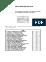 Cuestionario evaluación de capacitación