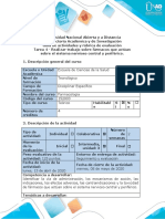Guía de actividades y rúbrica de evaluación - Tarea 4 - Realizar trabajo sobre fármacos que actúan sobre el sistema nervioso central y periférico.