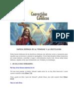 RAPIDA DEFENSA DE LA TRINIDAD Y LA CRISTOLOGIA