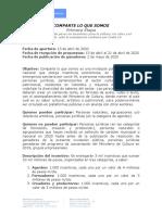 Lineamientos Convocatoria Apoyo Al Gremio -Mincultura