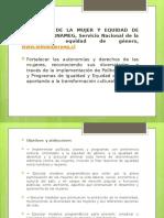 4. INSTITUCIONES Y PROGRAMAS SOCIALES, AREA MUJER