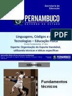 Esporte Organização do Esporte Handebol, utilizando técnicas e táticas especificas.pptx