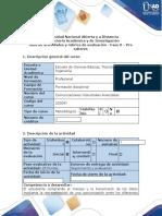 Guía de actividades y rúbrica de evaluación - Fase 0 - Presaberes
