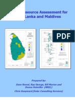 Solar Resource Assessment for Srilanka and Maldives