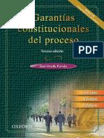 Ovalle Favela, José, Garantías constitucionales del proceso (3a. ed.), Oxford University Press México 2007