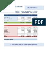 Presupuesto Ingresos y Gastos ASOVARIOS