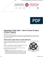 How To Open Or Close A Gate Valve On A Water Line