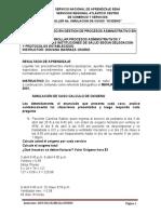 TALLER SIMULACION DE CASOS OXIGENO