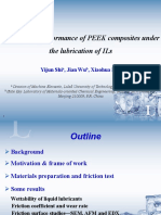 Tribological performance of PEEK composites under the lubrication of ILs