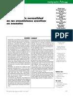 Parámetros de normalidad de otomesiones