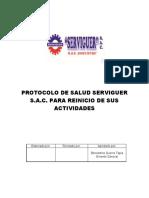 SEM-PROT-001 Protocolo Frente Covid 19