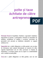 Impozite și taxe achitate de intreprinzători