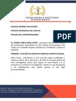 FISCALÍA GENERAL DEL ESTADo ecuador