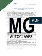 Guía rápida de verificación previa antes del uso de la autoclave MG