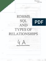 RDBMS SQL n Types of Relationships