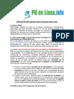 PREGUNTAS FRECUENTES PARA PAGOS EN LINEA(1)