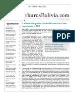 Hidrocarburos Bolivia Informe Semanal Del 13 Al 19 Diciembre 2010