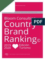 Bloom Consulting Ranking Marca Pais Turismo 2019