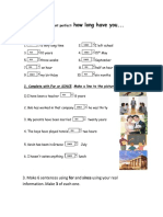 WORKSHEET WITH FOR AND SINCE-.pdf