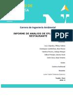 INFORME ANALISIS DE EFLUENTE DE RESTAURANTE