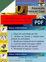 EDUCACION FISICA EN CASA