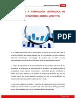 6. SELECCION Y VALORACION JERARQUICA DE PROYECTOS DE INVERSION SIMPLES- VAN Y TIR