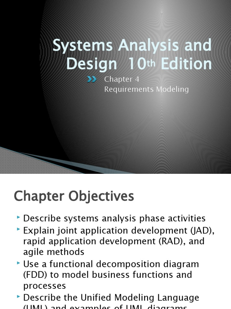 Systems Analysis And Design 10 Edition Requirements Modeling Software Development Use Case
