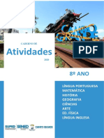 CADERNO DE ATIVIDADES 8ANo