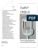 Manual instalación anemómetro CruzPro UWSD-10