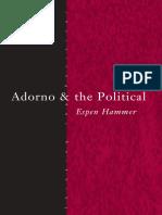 Adorno and the Political (2013, Routledge)