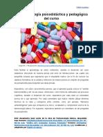 Metodología psicodidáctica y pedagógica del curso