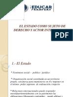 3-EL ESTADO COMO SUJETO DE DERECHO Y ACTOR INTERNACIONAL