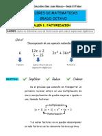 Talleres Matematicas Grado 8