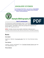 BIBLIOGRAPHY ENTRIES