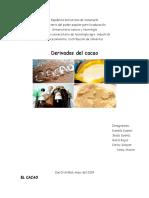 productos derivados del cacao