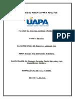 Trabajo final de Derecho Tributario, Luis Daniel Reyes.