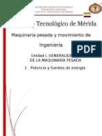 Especificaciones tecnicas de maquinaria pesada (resumen)
