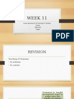 WEEK 11 Lesson planning for the teaching of grammar