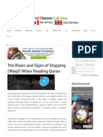 The Rules and Signs of Stopping (Waqf) When Reading Quran _ Islamic Articles